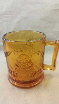 VINTAGE TIARA - HUMPTY DUMPTY - TOM,TOM PIPER'S SON AMBER CUP/MUG #TIARA