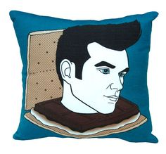 SMorrissey pillow by BettyTurbo on Etsy, $40.00