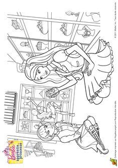Coloriage Du Film Barbie Et La Porte Secrete La Baguette