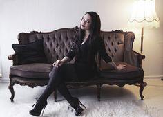 goth gothic vampire lolita dark makeup dress skirt heels beautiful pretty sexy girl woman fetish
