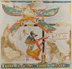 Anubis Weighing the Heart, Tomb of Nakhtamun reign of Ramesses II Date:ca. Ancient Egyptian Art, Ancient Aliens, Ancient History, Egyptian Things, Anubis, The Ancient One, Egypt Art, African Artists, Love Art