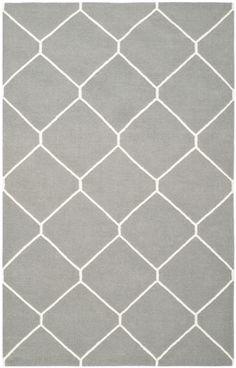 Safavieh Dhurries Grey/Ivory Area Rug | AllModern - 8'x10' - $459 (trade)