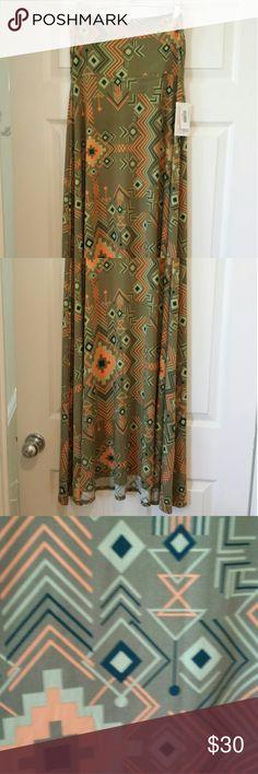 LuLaRoe Maxi skirt Tribal inspired print LuLaRoe maxi skirt---new w/tags- never worn! LuLaRoe Skirts Maxi
