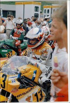 FRANCO UNCINI gallery foto raccolta thread - Pagina 10 - DaiDeGas Forum.   1985 salzburgring franco uncini 500gp