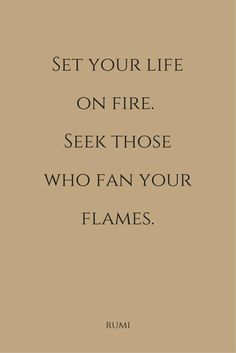Keep the fire going...