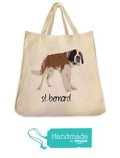 St. Bernard Dog Color Design Tote Bag - Extra Large Cotton Twill Eco Friendly Reusable Shopping Grocery Handbag - Made By Tote Tails from ToteTails https://www.amazon.com/dp/B01M1INTAN/ref=hnd_sw_r_pi_dp_h.f9xb5W40XRS #handmadeatamazon