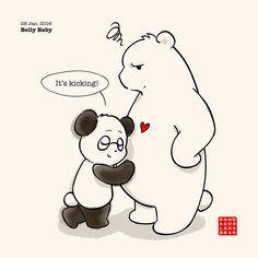 Panda And Polar Bear :: Belly Baby | Tapastic Comics - image 1