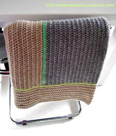 Blanket with neon accents - basic pattern description. ♥ Moet ik echt maken.