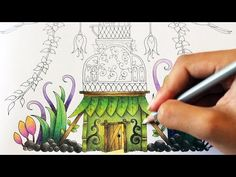 Coloring a flower from a page in Ivy and the Inky Butterfly. I used the Staedtler Ergosoft colored pencils. I haven't included the color codes for the ergoso. Colouring Pages, Coloring Books, Colored Pencil Tutorial, Art Basics, Coloring Tutorial, Fantasy House, Colouring Techniques, Johanna Basford, Yellow Background