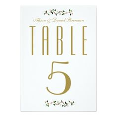 Christmas Holiday Wedding Reception Table Number - invitations custom unique diy personalize occasions