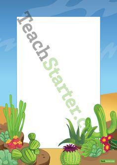 Desert Page Border   Teaching Resources - Teach Starter