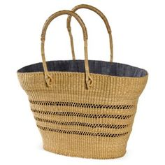 Check out this item at One Kings Lane! Dentelle Straw Bag, Small