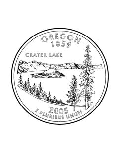 Oregon State Quarter Coloring Page
