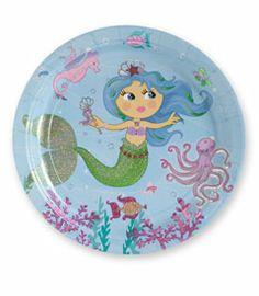 "9"" magical mermaids prismatic plates (set of 8) - Chasing Fireflies"