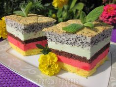 Teczowe ciasto Yummy Cakes, Tiramisu, Ale, Cheesecake, Food And Drink, Snacks, Baking, Ethnic Recipes, Cook