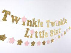 """""""Twinkle, Twinkle Little Star Gold Glitter Banner..."""""""