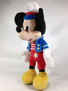 Macys Mickey Mouse TALKING Plush Nautical Sailor Holiday Edition Doll Disney Toy #Disney
