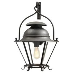 Check out this item at One Kings Lane! Cranbrook Wall Lantern, Black Rust