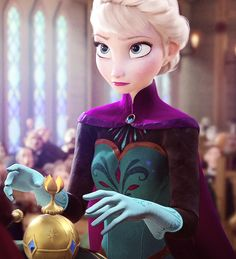 """Elsa's internal monologue """"Seriously? Do you WANT to die? How dare you do this to me! Does he know?"""""""