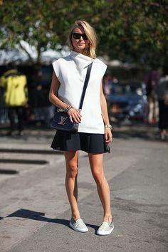 anne makeup®: mural fashion: slip on com saia, vestidinho ou short