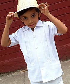 Children's Guayabera, available size 1 to 18 #childrensguayabera #babyguayabera, #guayaberainfantil #huitzilli #brooklyn #nyc