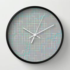 Re-Created SquaresXXX  #Wall #Clock by #Robert #S. #Lee - $30.00