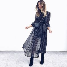 This floaty polka-dot dress is the perfect summer look for when the weather isn't being so perfect #AsSeenOnMe