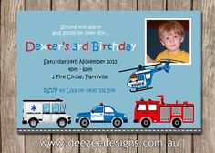 Photo Personalised Fire Rescue Police Ambulance by deezeedesign, $15.00
