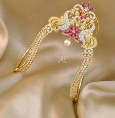 Gold Jewelry With Price Silver Wedding Jewelry, Indian Wedding Jewelry, Bridal Jewelry, Indian Bridal, Vanki Designs Jewellery, Gold Jewellery Design, Hand Jewelry, India Jewelry, Jewelry Sets