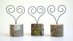 Wire Place Card Holders 20 Heart Guest Card by aTwistOfNature