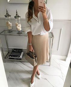 Peach tan skirt