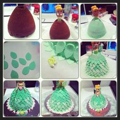 Tinkerbell cake how to