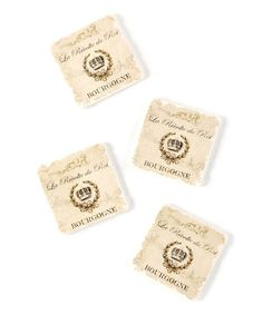 Love this Classic Flavors Tumbled Tile Coaster - Set of Four on #zulily! #zulilyfinds