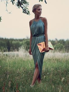 Summer Wedding. Wrap Dress ...looking for this dress for 2015 spring wedding