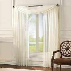 Classic Chiffon Window Curtain Scarf Valance