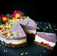 Raw Acai & Blueberry Cheesecake