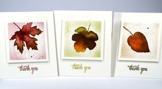 thank you leaf mini cards by Heather Telford