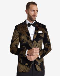 e9db6780430580 Deluxe paisley velvet jacket - Black