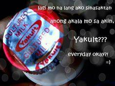 #yakult #pinoy #jokes #humor #tagalog Filipino Quotes, Pinoy Quotes, Filipino Funny, Tagalog Love Quotes, Pinoy Jokes Tagalog, Hugot Lines Tagalog Funny, Tagalog Quotes Hugot Funny, Hugot Quotes, Victor Hugo