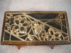 Art Deco Vintage Jewelry Box Copper Color Metal by TntbrbefanDolls, $60.00