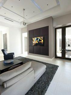 modernes wohnzimmer gestalten wohnzimmer einrichten wandpaneele tv wand fernsehwand tv wandpaneel - Fantastisch Modernes Wohnzimmer Am Abend