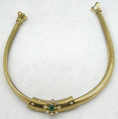 Coro Gas Pipe Necklace - Garden Party Collection Vintage Jewelry