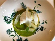 Tarbot witte asperges en verveine