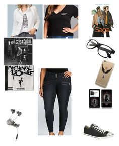 """I Want To Fight Trump"" by chrissy-cdm ❤ liked on Polyvore featuring Forever 21, Torrid, DK, Converse and plus size clothing"