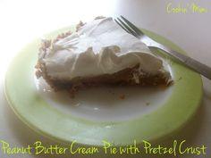 peanut butter cream pie with pretzel crust: peanut butter cream pie with pretzel crust