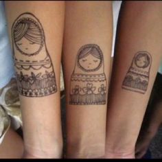 MATCHING SIBLING TATTOOS--love it!!!  I am obsessed lately with Matryoshka doll tats.