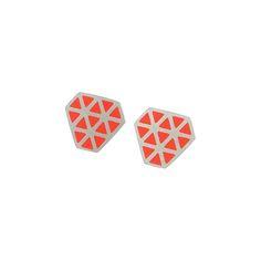 Iso+tronqué+triangle+stud+earrings, £87.00