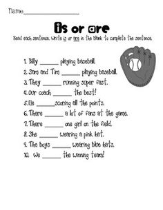 Penguin Activities {is or are- sentences and stories