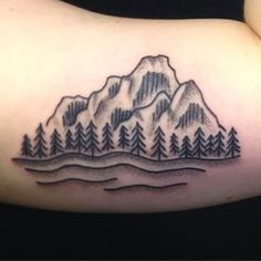 really enjoy the minimalism in this woodcut mountain black tattoo. Traditional Tattoo Mountain, Tattoo Traditional, Black Tattoos, New Tattoos, American Traditional Sleeve, Best Friend Tattoos, Mountain Tattoo, Beautiful Tattoos, Geometric Shapes