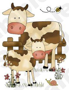Barnyard Animals Children's Nursery Wall Stickers.